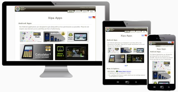 Android Application Website